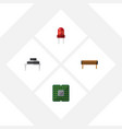 flat icon electronics set of recipient bobbin vector image vector image