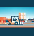 forklift loader pallet stacker truck equipment vector image vector image