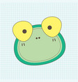 frog face notebook vector image vector image