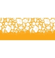 Gold and white floral silhouettes horizontal vector image vector image