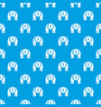 hand coin pattern seamless blue vector image vector image