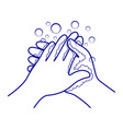 hand washing and disinfection vector image