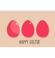 Happy easter card with Easter eggs vector image vector image