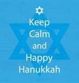 happy hanukkah day keep calm vector image vector image