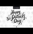 happy patrick day vintage lettering background vector image vector image