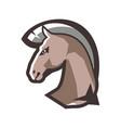 horse head emblem vector image vector image
