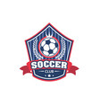 icon for soccer football club championship vector image vector image