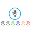 idea bulb rounded icon vector image