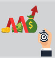 income growth chart vector image vector image