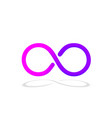 infinity symbol with color gradient design vector image