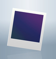 Instant blanc photo frame vector image
