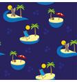 islands pattern vector image vector image