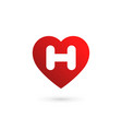 letter h heart logo icon design template elements vector image vector image
