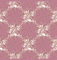 light pink decorative floral seamless pattern vector image