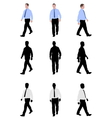 man walking vector image