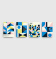 modern colorful abstract geometric covers set vector image