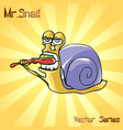 mr snail with toothbrush vector image
