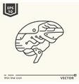 One icon Artificial brain vector image vector image