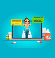 online doctor consultation vector image