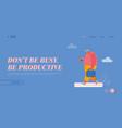 productive concept time management landing page vector image