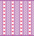 purple chevron pattern with red hearts vector image