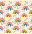 Rainbows and clouds seamless pattern kids