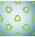 Recycle symbol icon pattern on grey background vector image vector image