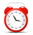 Red Alarm Clock Isolated on White Background Clock vector image vector image