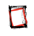 rough hand drawn square black isolated frame vector image vector image