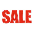 Sale Red Text vector image