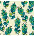 seamless Pattern with peacock feathers vector image vector image