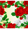 seamless texture stems flowers red and white vector image vector image