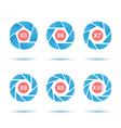 Segmented aperture circle vector image