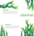 set green leaves on wall vector image vector image