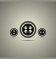 sewing buttons in black and white style vector image