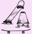 skateboard deck vector image vector image
