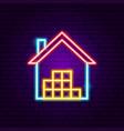 storage neon sign vector image