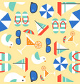 summer vacation seamless pattern theme sail boat vector image