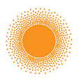 sun icon halftone orange sun circle vector image