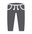 sweatpants glyph icon clothes and sport pants vector image vector image