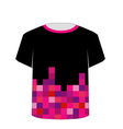 T Shirt Template- Pixel art vector image vector image