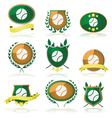 Tennis badges vector image