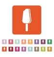 The ice cream icon Eskimo pie symbol Flat vector image