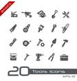 tools icons - basics vector image