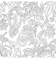 tropic pattern monochrome vector image vector image
