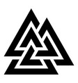 valknut symbol icon black color flat style image vector image vector image