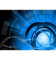 vector tech blue background vector image