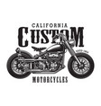 vintage classic motorcycle logotype concept vector image