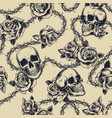 vintage monochrome tattoos seamless pattern vector image vector image