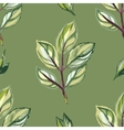 Watercolor seamless pattern with green leaves vector image